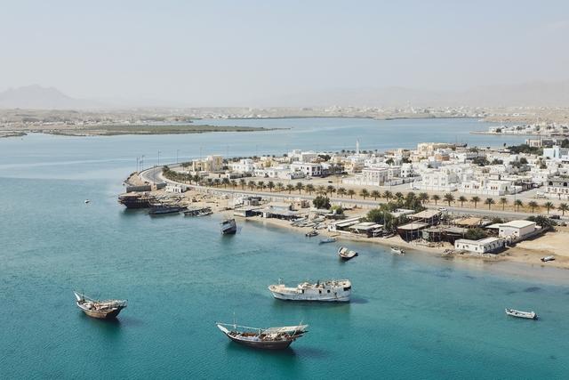 Coastline of old city Sur in Sultanate of Oman.
