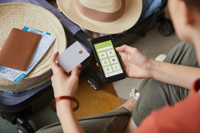Using mobile phone and credit card